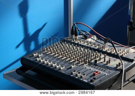 Work Place Of Sound Operator.