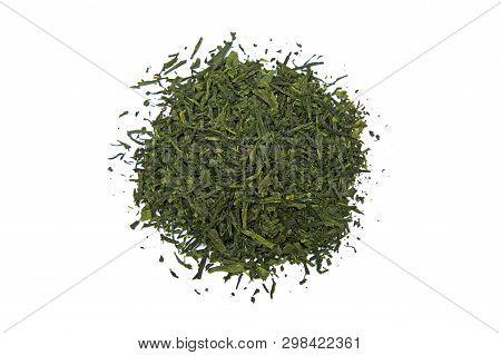 Japan Bancha Arashiyama Green Tea Isolated On White Background