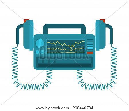 Defibrillator Isolated. Medical Device. Electropulse Therapy Of Heart Rhythm Disorders.
