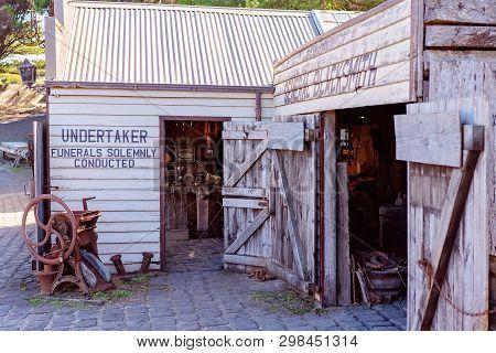 Warrnambool, Victoria, Australia - April 16th 2019: Flagstaff Hill Maritime Museum, Undertaker And B