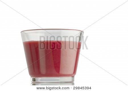 A glass of smoothie