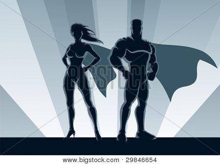 Pareja de superhéroes