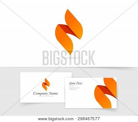 Flame Logo Vector Isolated, Flat Of Ignite Logotype Template, Abstract Gradient Geometric Fire Brand