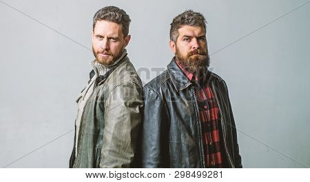 Masculinity And Brutality. Feel Confident In Brutal Leather Clothes. Brutal Men Wear Leather Jackets