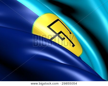 Caribbean Community (CARICOM) Flag. Close Up. Front view. poster