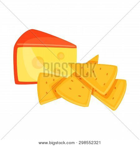 Vector Design Of Cracker And Appetizer  Icon. Set Of Cracker And Lactic Stock Vector Illustration.