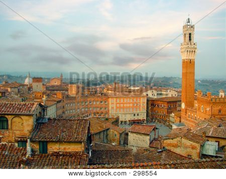 Siena Skyline. Italy, Europe