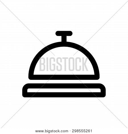 Hotel Bell Icon In Trendy Design Style. Hotel Bell Icon Isolated On White Background. Hotel Bell Vec
