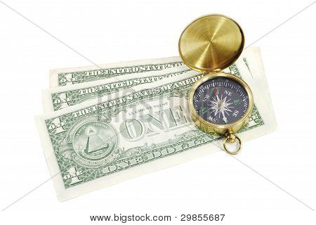 Compass with US Dollars