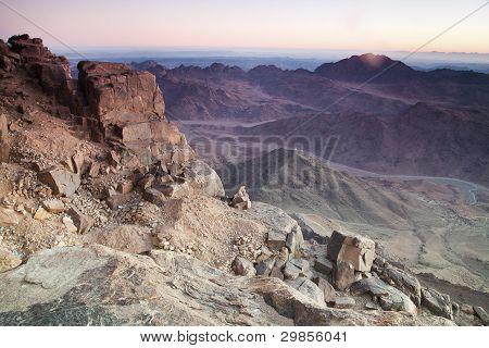 Dawn In Sinai Mountains