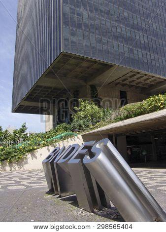 Rio De Janeiro, Brazil, November 23, 2005 - Facade Of Bndes (brazil's State-owned Bank Of Developmen