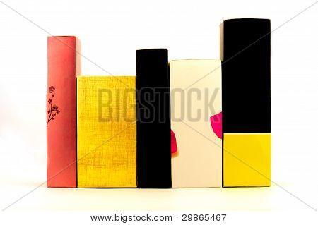 Multi-colored Boxes.