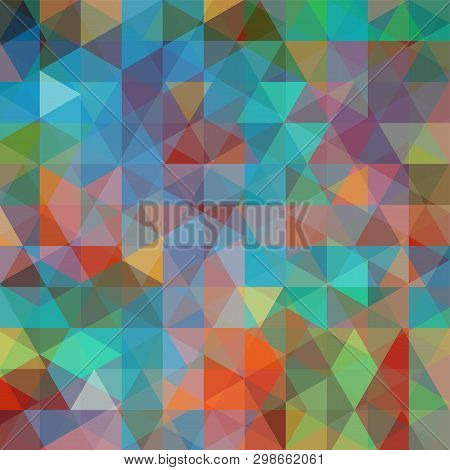 Abstract Mosaic Background. Triangle Geometric Background. Design Elements. Vector Illustration. Blu