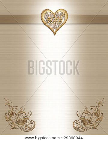 50th anniversary invitation gold image photo bigstock image and illustration composition for 50th wedding anniversary invitation border frame greeting card or scrapbook background with copy space stopboris Choice Image