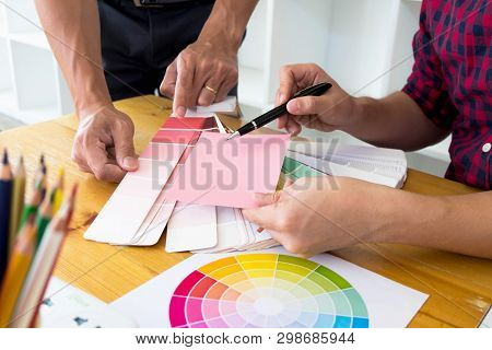 Graphic Designers Choose Pink Tones From The Color Bands To Design Ideas, Creative Designs, Graphic