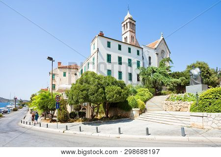 Sibenik, Croatia, Europe - Walking Down To The Promenade Of Sibenik