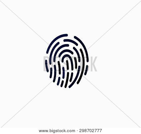 Vector Icon Designation. Fingerprint Icon. Vector Illustration. Flat Design - Fingerprint, Unlocking