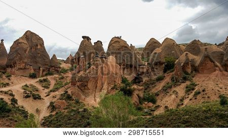 The Red Valley In Cappadocia, Turkey . Red Valley  Is Famous For The Red-rose Colour Of The Rocks, I