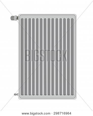 A Vector Illustration Of Radiator On White Background