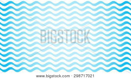 Water Wave Blue Line Stroke On White Background, Water Wave Blue Smooth Simple, Art Line Water Wave