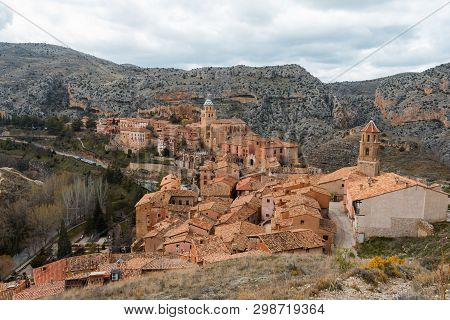 The Colors Of Autumn Give You A Few Incredible Ocher Colors. The Town Of Albarracin.