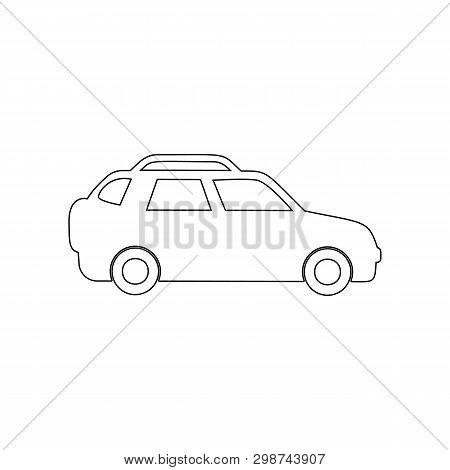 Crossover Outline Icon. Element Of Car Type Icon. Premium Quality Graphic Design Icon. Signs And Sym