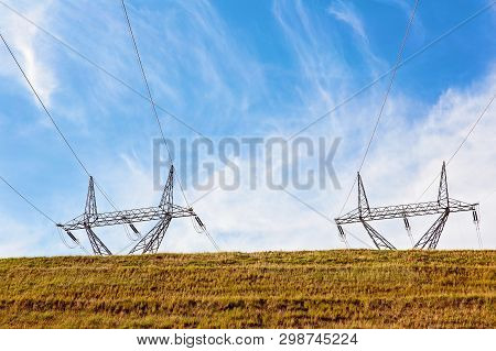 Power Lines As Part Of The Hydro-electric Power For The Snowy Hydro Electricity Scheme In Australia