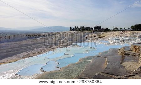 Pamukkale, Turkey_3. Water Jets Coming From The Ancient City Of Hierapolis, Rich In Mineral Salts, F
