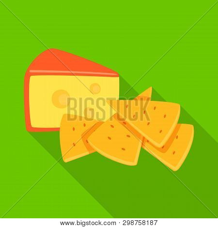 Vector Design Of Cracker And Appetizer  Sign. Set Of Cracker And Lactic Vector Icon For Stock.