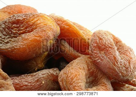 Stack Of Sundried Apricots Front View (photo Taken At Studio)