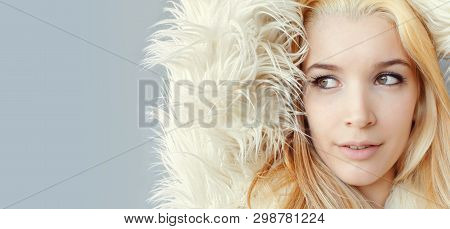 Young Woman Fashion Model Face