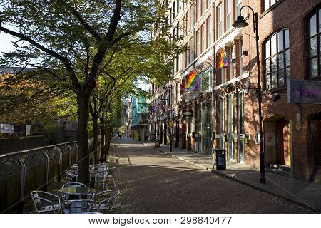 Manchester, Greater Manchester, Uk, October 2013, Canal Street In Manchesters Famous Gay Village