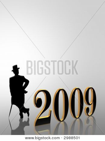 New Year 2009 Invitation Illustration