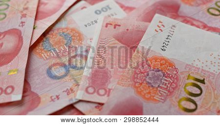 Chinese RMB banknote close up