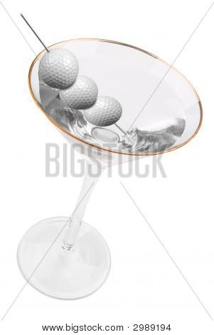 Golf Ball Martini