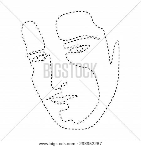 Isolated Dotted Line Vector & Photo (Free Trial) | Bigstock