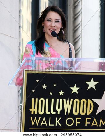 LOS ANGELES - MAY 1:  Lucy Liu at the Lucy Liu Star Ceremony on the Hollywood Walk of Fame on May 1, 2019 in Los Angeles, CA