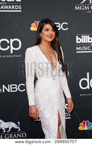 LAS VEGAS - MAY 1:  Priyanka Chopra at the 2019 Billboard Music Awards at MGM Grand Garden Arena on May 1, 2019 in Las Vegas, NV