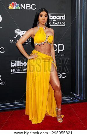LAS VEGAS - MAY 1:  Cardi B at the 2019 Billboard Music Awards at MGM Grand Garden Arena on May 1, 2019 in Las Vegas, NV