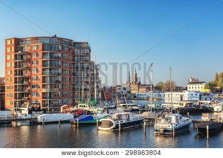 Zaandam, The Netherlands, April 18, 2019: Impression Of Zaandam Located Along The River Zaan Seen Fr