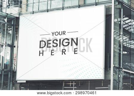 Large-scale rectangular marketing billboard mockup