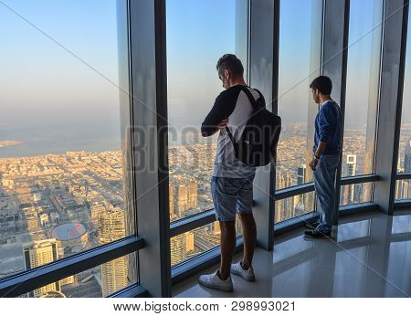 People Enjoying At The Observation Deck