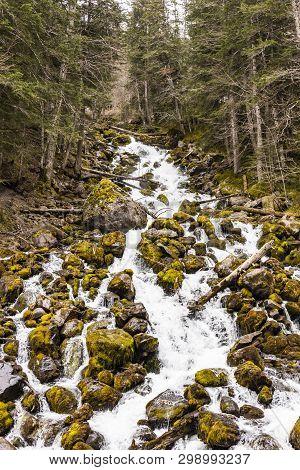 Uelhs Deth Joeu. Beautiful Cascade In The Pyrinees