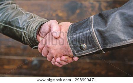 Handshake Gesture Concept. Partnership And Business Deal. Successful Deal Handshake. Handshake Appro