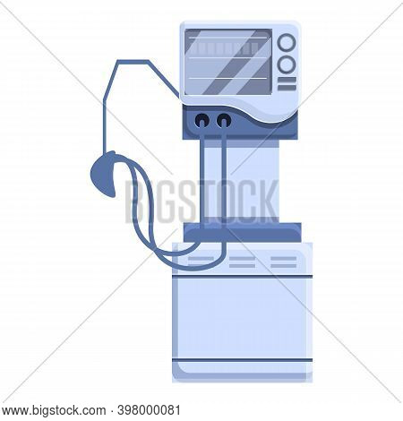 Clinic Ventilator Medical Machine Icon. Cartoon Of Clinic Ventilator Medical Machine Vector Icon For