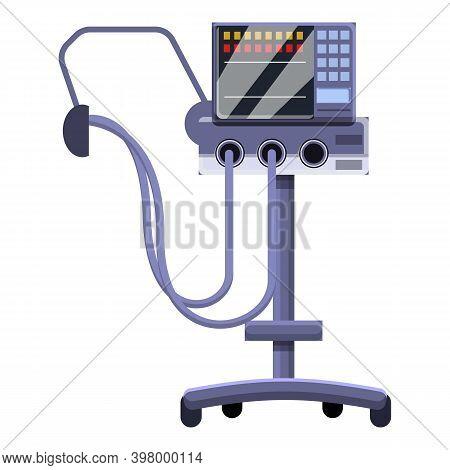 Equipment Ventilator Medical Machine Icon. Cartoon Of Equipment Ventilator Medical Machine Vector Ic