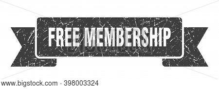 Free Membership Ribbon. Free Membership Grunge Band Sign. Free Membership Banner
