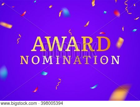Award Nomination Background Golden Film Movie Vector Logo Ceremony Poster