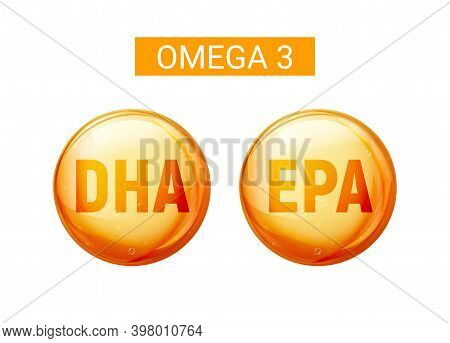 Omega 3 Fatty Acid Dha Epa Capsule. Fish Oil Gold Capsule