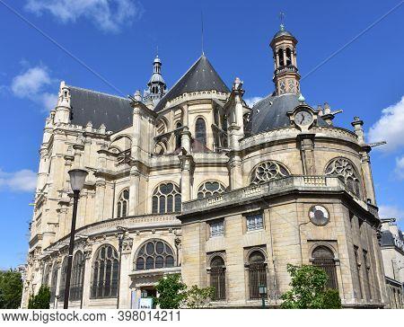 Paris, France. August 14, 2019. Saint-eustache Gothic Church At Les Halles Neighbourhood.